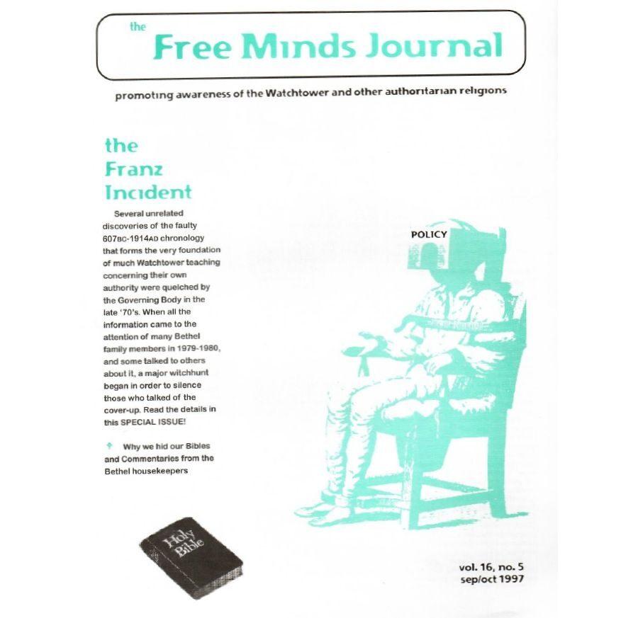 Free Minds Journal Special Edition – The Franz Incident – Nov 16 no 5 Sept/Oct 1997