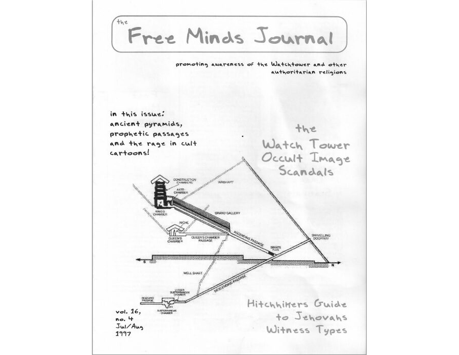 Watch Tower Occult Image Scandals - Free Minds Vol 16 No 4